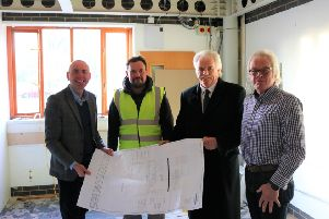 From left: Coun Rob Waltham, Kevin Barnes (Steve Ball Joinery), Coun Nigel Sherwood and Coun Carl Sherwood