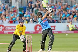 David Wiese in Vitality Blast action / Picture: Sussex Cricket