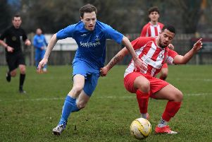 Recent Potton United action. Picture: Jane Russell