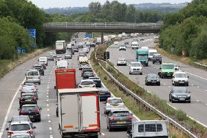 The M23 will be closed as part of the road works