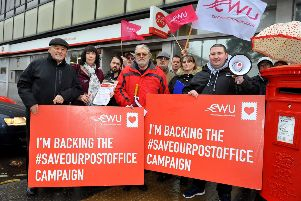 A protest in December 2018 at Crawley Post Office against its relocation. Pic Steve Robards SR1831397 SUS-180312-131134001
