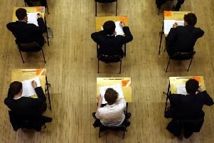 A general view of pupils sitting an exam