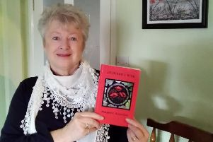 Margaret Hill with her new novel based on the secret WW1 diary of grandfather Leonard Folwell EMN-190802-135325001