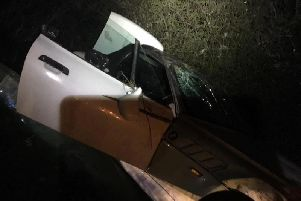 The car after the collision