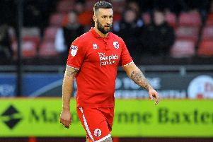 Crawley Town forward Ollie Palmer. All pictures by Steve Robards.