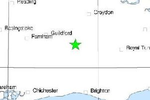 An earthquake hit Newdigate this evening. Photo: British Geological Survey