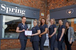 All smiles for staff at Spring Beauty Room after the salon has been shortlisted for two prestigious awards. EMN-190218-081018001