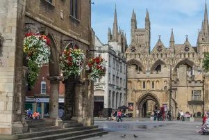 Cathedral Square in Peterborough