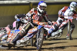 Peterborough Panthers in action at the East of England Arena.