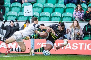 Taqele Naiyaravoro's flying finish was the catalyst for Saints (pictures: Kirsty Edmonds)