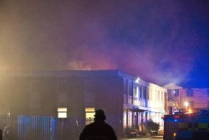 Fire crews spent more than ten hours battling the blaze in Burgess Hill. Photo by Eddie Howland