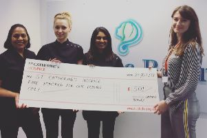 Last year's cheque hand-over