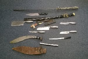 Knives collected during a previous amnesty in 2017