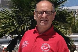 Crawley Town fan and away travel organiser Alain Harper SUS-181112-130117002