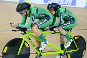 Katie-George Dunlevy and Eve McCrysta in action in Rio at the World Cup. Picture by SWpix.com (t/a Photogrpahy Hub Ltd) SUS-180304-152233002