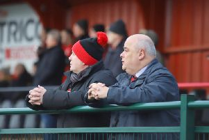 Kettering Town chairman David Mahoney says manager Marcus Law, his staff and the players deserve all the credit for the club's success this season. Picture by Peter Short