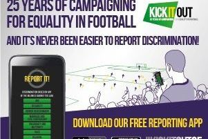 Kick It Out anti racism in football campaign SUS-190204-101201002