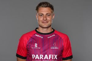 Luke Wright in the One Day Cup shirt he'll be sporting as skipper next week / Picture by Getty Images