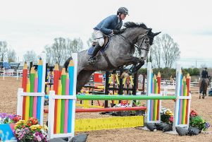 James Hogg riding Abide With Me, clear in the 1m