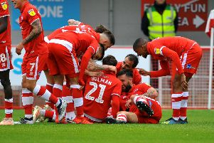 Crawley Town FC v Forest Green. Pic Steve Robards SR1909386 SUS-190604-154238001