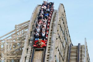 The Cu Chulainn Coaster which drops for 31 metres and reaches speeds of 100 km/h