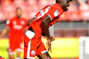 Crawley Town's Man of the Match: Panutche Camara'Picture by Steve Robards