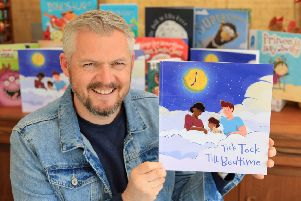 Giles Paley-Phillips' new book Tick Tock Till Bedtime. Credit: SWNS/Indeed