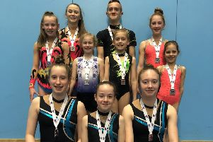 Hollington Gymnastics Club's medallists from the National Qualifiers for Sports Acrobatics