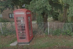 Chance to adopt a phone box in Crawley. Photo: Google Street Maps
