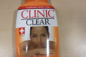 Dangerous skin lightening cream was seized at Gatwick Airport
