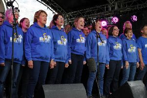 The Rock Chorus entertain crowds during this year's Steeple Jam