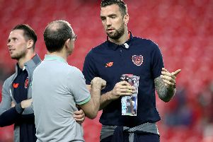 Shane Duffy has a chat with former Ireland boss, Martin O'Neill