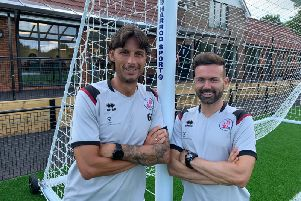 Head coach Gabriele Cioffi and new assistant head coach Edu Rubio