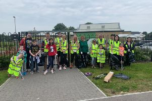 Residents united to tackle litter in the area