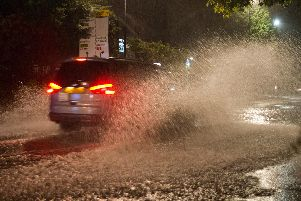 Flooding in Haywards Heath last night (July 19)