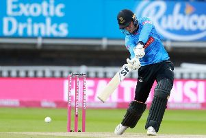Phil Salt hits out at last year's Vitality Blast Finals Day - an occasion he's keen to be at again this year / Picture: SNAP, Sussex Cricket
