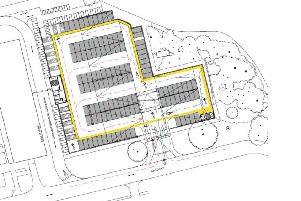 Ground floor / site plan of new car park for the Hilton Hotel at Gatwick