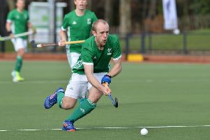 Eugene Magee in action for Ireland.