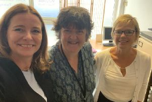 Chichester MP Gillian Keegan (left) visited My Sister's House's new centre in Bognor ahead of the charity's five year anniversary