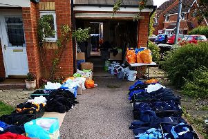 Kind Amy's uniform drive was held in her garage.