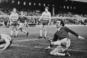Tommy Robson in action for Posh.