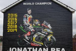 The mural in the West Winds estate in Newtownards.