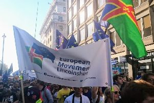 The previous march attended by the European Movement Lincolnshire.