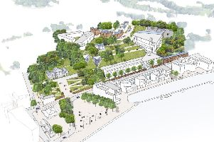 The Ulster University Masterplan for Magee outlines the future potential of the campus, including the current campus estate alongside the lands and sites that would be considered as part of an expanded footprint in the city. 'The image includes the original Martha Magee building, Foyle Arts, the recently opened �11m teaching block at the heart of the existing campus, and the indicative site for the proposed Graduate Entry Medical School, running parallel to the riverfront.   The Masterplan maps a growth plan over a 25 - 30  year period for the future development of higher education in the city, in line with the University's wider Estates Strategy.