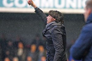 Gabriele Cioffi on the sidelines against Exeter City on Saturday