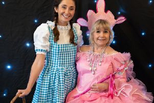 Katie Bennett as Dorothy & Vicky Edwards as Good Witch, Wizard, Bognor. Credit youreventphotography.uk
