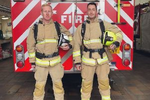 Shoreham firefighters Shaun Challis and Lee Smith