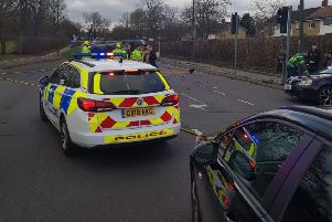 Southgate Avenue in Crawley was closed due to a 'serious' crash. Photo courtesy of Crawley Police