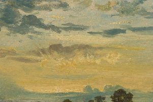 Constable, John, Summer Sunset, oil on paper, c.1820-25.  Ashmolean Museum, University of Oxford