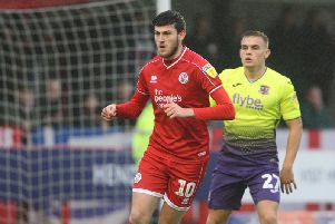 Ashley Nadesan was on the scoresheet for Crawley Town in their Carabao Cup win at Walsall in August. Picture by Derek Martin
